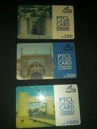 Pakistan PTCL Calling Cards Lot Of 3 Phonecard Used - Télécartes