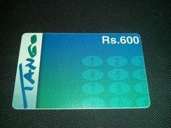 Pakistan Tango Rs 600 Phonecard Used