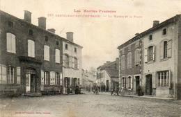 CPA - CASTELNAU-RIVIèRE-BASSE (65) - Aspect De La Mairie Et De La Place En 1916