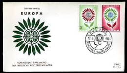 17152) Belgien - Michel 1358-1359 - FDC - CEPT 1964 - 2,00 Mi€ - FDC