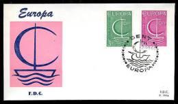 17187) Belgien  - Michel 1446-1447 - FDC - CEPT 1966 - 1,50 Mi€ - FDC