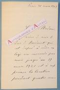L.A.S 1919 Guy Du BESSET Baron De CONTENSON Duc De Rarécourt Jockey Club - Explorateur Chine Etc Lettre Autographe - Autographes
