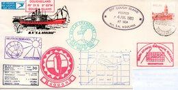Polaire Antarctique, RSA. Navire Agulhas. Gough Island 4-07-1983. Nombreux Cachets. - Barcos Polares Y Rompehielos