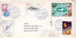 Chili. Polaire Antarctique, Base Antartica, Presidente E. Frei. 14-02-1978 - Navires & Brise-glace