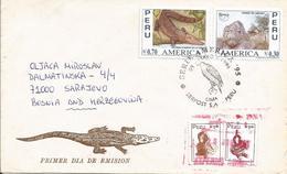 Peru 2003 Lima Black Cayman Melanosuchus Niger Lomas De Lachay Reserve Granite And Diorite Rocks Bird Of Prey Cover - Peru