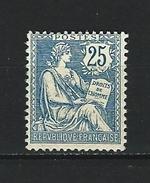 """YT 127  """" Mouchon Retouché  25c. Bleu """" 1902 Neuf* - 1900-02 Mouchon"""
