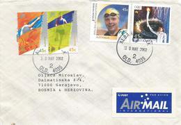 Australia 2002 Albany Creek Tennis Running Swimming Paralympics Cover - 2000-09 Elizabeth II
