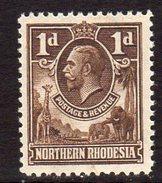 Northern Rhodesia GV 1925-9 1d Brown Definitive, SG 2, MNH (BA) - Northern Rhodesia (...-1963)