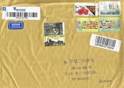 Bosnia Herzegovina 2016 Sarajevo Berries Europe Council Aleksa Šantić Poet Castle Barcoded Registered Cover - Bosnië En Herzegovina