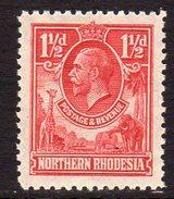 Northern Rhodesia GV 1925-9 1½d Carmine-red Definitive, SG 3, MNH (BA) - Northern Rhodesia (...-1963)