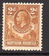 Northern Rhodesia GV 1925-9 2d Yellow-brown Definitive, SG 4, MNH (BA) - Northern Rhodesia (...-1963)