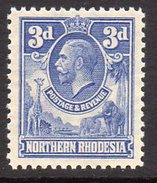 Northern Rhodesia GV 1925-9 3d Ultramarine Definitive, SG 5, MNH (BA) - Northern Rhodesia (...-1963)