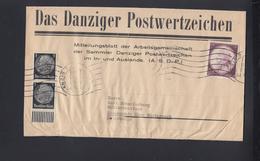 Dt. Reich Streifband Danzig Er Postwertzeichen 1941 - Briefe U. Dokumente