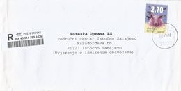 Bosnia Herzegovina Srpska 2016 Ruganca Sheep Ovis Aris Barcoded Registered Domestic Cover - Bosnië En Herzegovina