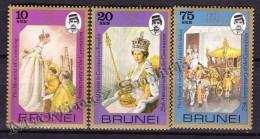 Brunei 1978 Yvert 236- 38, 25th Anniversary Of The Coronation - MNH - Brunei (1984-...)