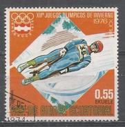 Equatorial Guinea 1976, Scott #7611 Luge (U) - Guinée Equatoriale