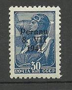 Estland Estonie Estonia 1941 German Occupation Pernau 30 K Type I MNH - Occupation 1938-45