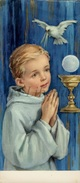 Communieprentje / Communie / Communion / Confirmation / 2 Scans / 1965 / Alfons Van Oosten / Hoboken - Communion