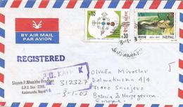 Nepal 2003 Kathmandu Dialogue Among Civilisations Shah's Bamboo Pitviper Trimeresurus Karanshahi Snake Registered Cover - Nepal