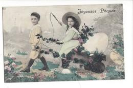 16121 - Joyeuses Pâques Couple En Forme D'attelage - Pâques