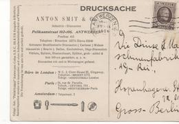 3080  Tarjeta Privada Antwerpen  1926 Belgica - Bélgica