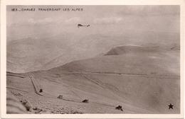 Aviation - Aviateur Géo Chavez Traversant Les Alpes -1910 - Aviateurs