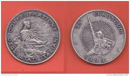25 EuroScudi 1993 Liga Veneta A. Da Giussano Medaglia - Monetary/Of Necessity