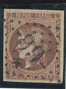 France Classique N° 47 Ob Gros Chiffre Refait Avec étoile - 1870 Siege Of Paris