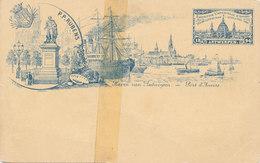 ANTWERPEN / 1894 / WERELDTENTOONSTELLING / HAVEN VAN ANTWERPEN / KAART GESCHEURD EN MET TAPE SAMENGEVOEGD / ZELDZAAM - Antwerpen