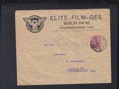 Dt. Reich Brief 1922 Elite Film Berlin - Briefe U. Dokumente