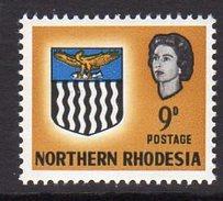 Northern Rhodesia QEII 1963 Coat Of Arms 9d Definitive, SG 81, MNH (BA) - Northern Rhodesia (...-1963)