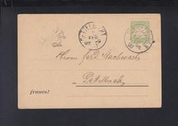 Bayern PK 1890 Würzburg Vordruck Tabak U. Zigaretten Fabrik Hanau Am Main - Bayern (Baviera)
