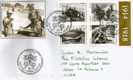 ITALIE.Centenaire De La Grande Guerre, Année 2015, Lettre Adressée à Cuba - WW1