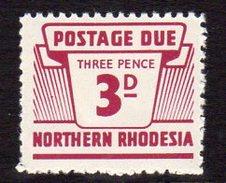 Northern Rhodesia 1963 3d Postage Due, SG D7, MNH (BA) - Northern Rhodesia (...-1963)