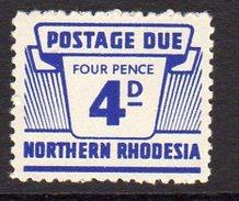 Northern Rhodesia 1963 4d Postage Due, SG D8, MNH (BA) - Northern Rhodesia (...-1963)