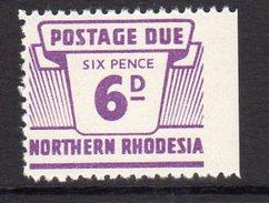 Northern Rhodesia 1963 6d Postage Due, SG D9, MNH (BA) - Northern Rhodesia (...-1963)
