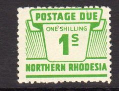 Northern Rhodesia 1963 1/- Postage Due, SG D10, MNH (BA) - Northern Rhodesia (...-1963)