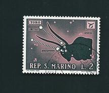N° 750 Signe Du Zodiac Toro  (taureau) Timbre Stamp   Saint Marin 1970 - Ungebraucht