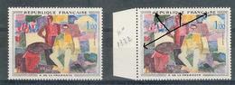 France Variété 1961 - R. De La Fresnaye   - Y&T N° 1322 ** Neufs Luxe ( Voir Descriptif ) - Errors & Oddities