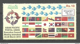 PAKISTAN 2015 ASIAN PACIFIC POSTAL UNION ( APPU )  STAMP   MNH   WITHDRAW STAMP ( AAPU ) - Pakistan
