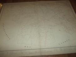 CARTE GEOGRAPHIQUE ENTOILE 1875 / CAPTIEUX  BAZAS  DIM 66.5 CM X 88 CM - Mapas Geográficas
