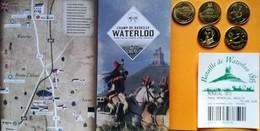 2015-BATAILLE DE WATERLOO- LIVRET - 4 JETONSCOLLECTOR COINS  Avec Ticket - Tourist