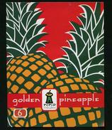# PINEAPPLE NINO FRUIT GOLDEN 6 Fruit Tag Balise Etiqueta Anhanger Ananas Pina - Fruits & Vegetables