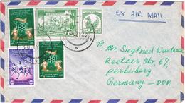 20742. Carta Aerea RANGOON (Burma) Birmania 1962 To Germany - Myanmar (Burma 1948-...)