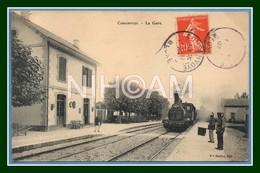 CPA Consenvoye La Gare Arrivée D'un Train Voy 1907 TB (R) - Sonstige Gemeinden