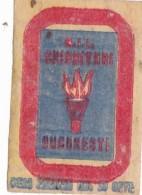 #BV6574  MATCHES,FIRE,BUCUREST,MATCHBOX LABEL,ROMANIA. - Boites D'allumettes - Etiquettes