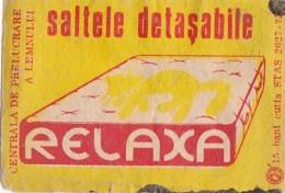 #BV6574  MATTRESS,ADVERTISING,RELAXATION,MATCHBOX LABEL,ROMANIA. - Boites D'allumettes - Etiquettes
