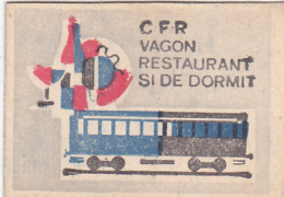 #BV6574  TRAIN,RAILROAD,RAILWAY,MATCHBOX LABEL,ROMANIA. - Zündholzschachteletiketten