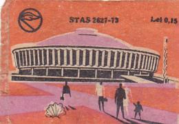 #BV6574  STADIUM,BUILDING,PEOPLE,MATCHBOX LABEL,ROMANIA. - Zündholzschachteletiketten