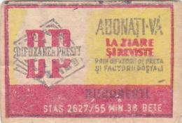 #BV6575  PRESS,MEDIA,D.P.,MATCHBOX LABEL,ROMANIA. - Boites D'allumettes - Etiquettes